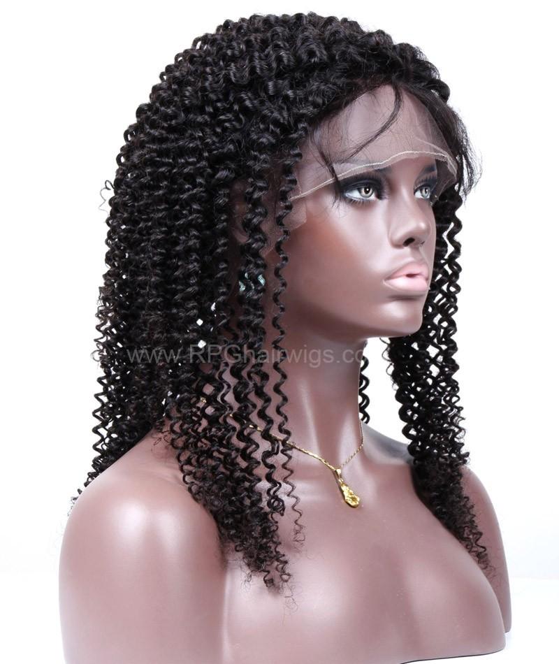 Brazilian Virgin Kinky Curly Remy Human Hair Glueless Full