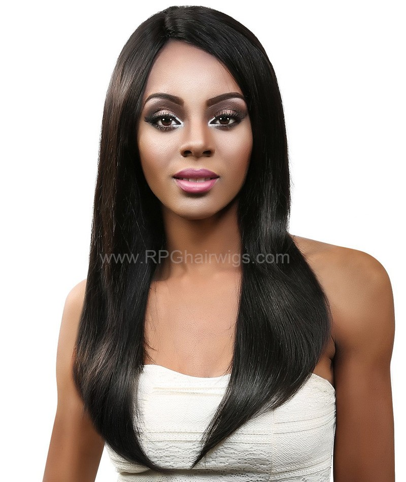Good Quality Natural Straight Lace Front Wigs Indian Remy Hair On Sale