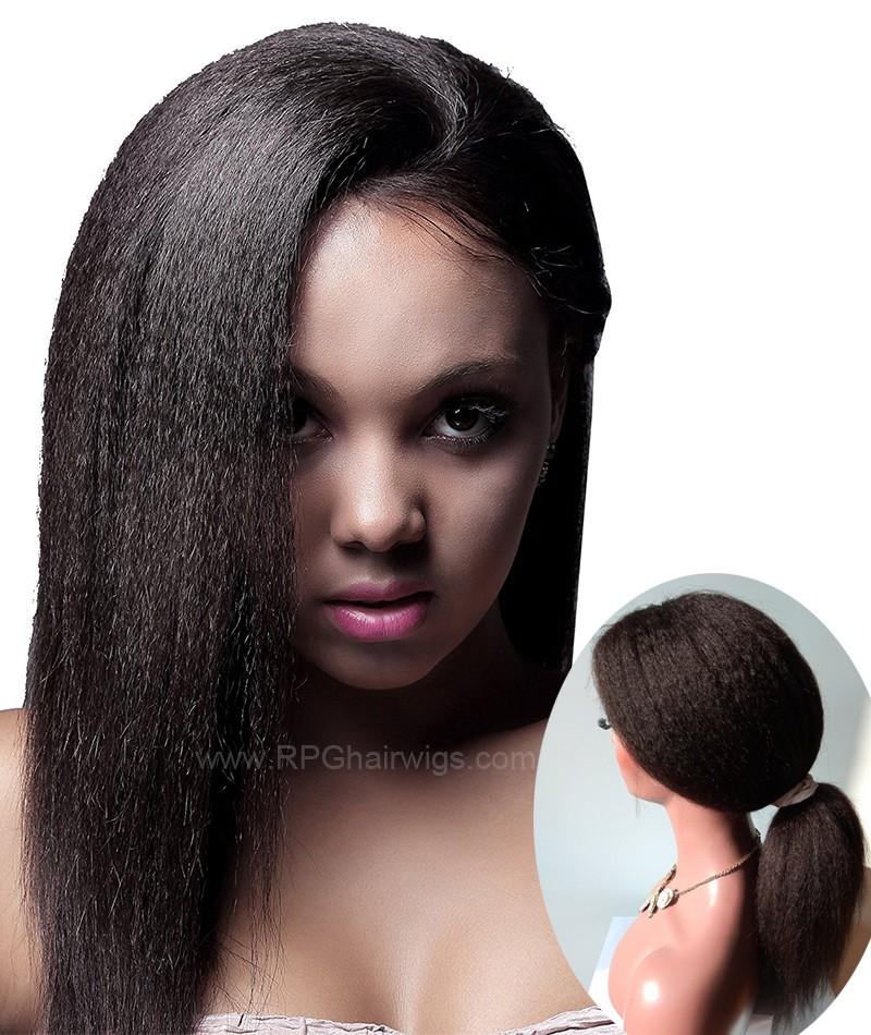 New 360 Lace Wig Heavy Density Brazilian Remy Human Hair Kinky