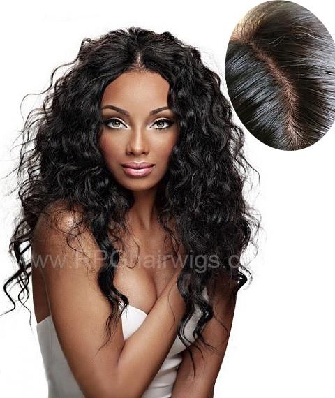 4 X4 Silk Base Human Hair Wig Brazilian Virgin Hair 130