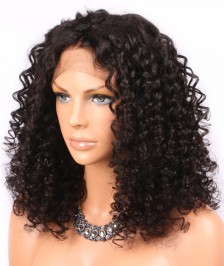 Sexy Curly Lace Front Wigs Indian Human Remy Hair Natural Color On Sale