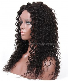Brazilian Virgin loose curly Remy Human Hair Glueless Full Lace Wigs Natural Color High Quality