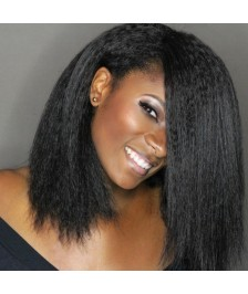 Kinky Straight Virgin Brazilian Human Hair Full Lace Wigs Best Quality