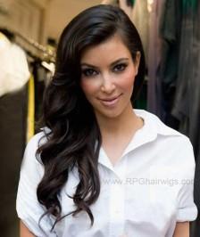 22 Inch kim kardashian hairstyle Inspired Big Wave Indian Thick Density Virgin Human Hair Lace Wigs