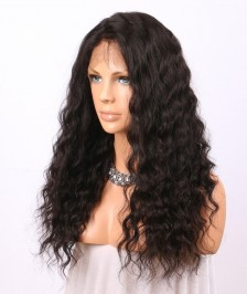 Glueless Full Lace Wigs Deep Wave Indian Remy Human Hair On Sale