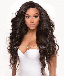 Brazilian Virgin Human Hair Full Lace Wigs Big Body Wave Natural Color