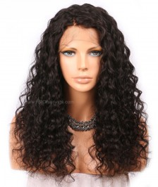 Brazilian Virgin Curly Remy Human Hair Glueless Lace Front Wigs Natural Color Affordable Hair