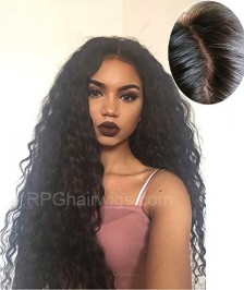 4''X4'' Silk Base Human Hair Wig Brazilian Virgin Hair  130 Density Glueless Silk Top Lace Wig Bleached Knots for Black Women Kinky Curly