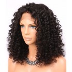 Sexy Curly Lace Front Wigs Indian Human Remy Hair Natural Color On Sale [ILWS26]
